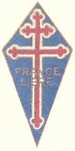 Croix de Lorraine. George Eve's F.F. Navy shoulder patch.
